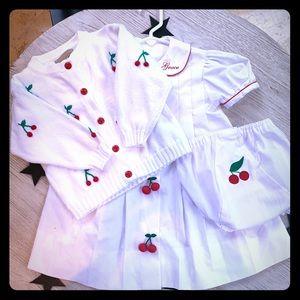 "Cherry custom ""Grace"" monogram dress"